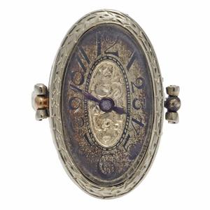 Art Deco Belais 18k Ring Watch