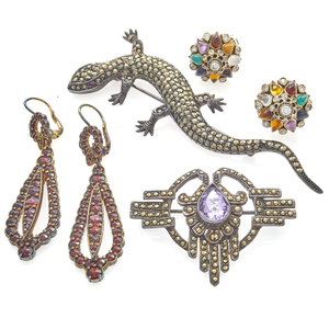 Collection of Multi-Stone, 10K and Silver Jewelry Items