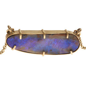 Boulder Opal, 14k Yellow Gold Necklace