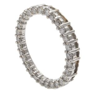 Diamond, 14k White Gold Scarf Ring