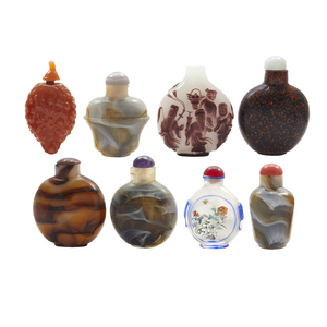 Eight Glass Snuff Bottles