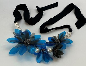 Lanvin Faux Pearl, Cyrstal, Flower Necklace