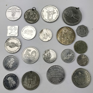 Group of 56 Older Tokens, Coins, Medals