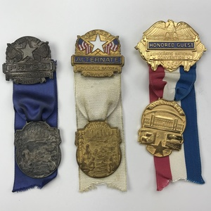 Group of 14 1950-1964 Democratic Convention Delegate and Other Ribbons Pins