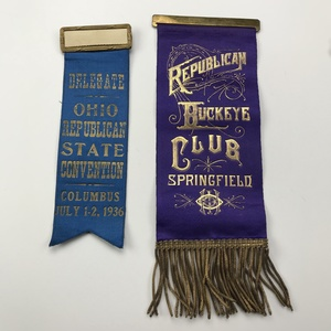 Group of 7 1928-1932 Republican Convention Ribbons & Pins