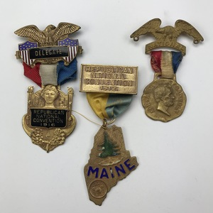 Group of 12 1909-1920 Republican Convention Delegate Ribbons