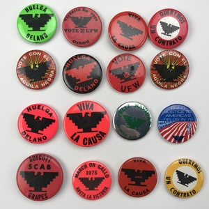 Group 60 United Farm Workers Union UFW Buttons Pinbacks