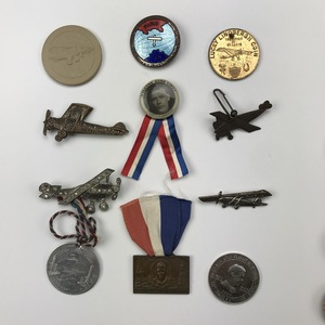 Group of 32 Aviator Charles Lindbergh Buttons Pins