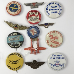 Group of 80 Older Aviation and Aviation Event Buttons
