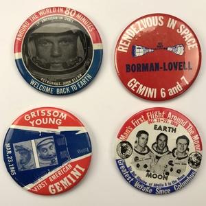 Group of 38 NASA Gemini , Apollo 8 ,  Astronaut Buttons