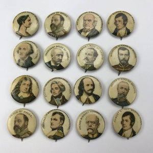 Group of 28 Pepsin Gum Famous People Buttons Pinbacks