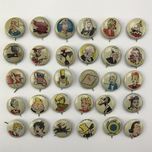 Large Group of 110 Kelloggs Pep Pins Buttons