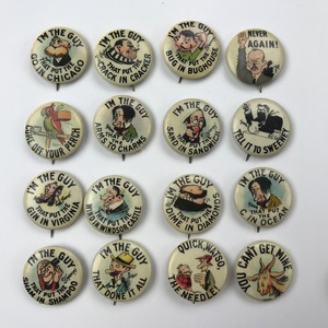 Group of 198 Hassan Tokio Cigarette Buttons