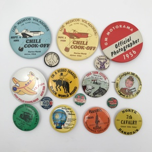 Group of 80 Unique Vintage Festival and Events Buttons