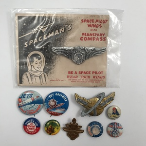 Group of 26 Vintage Sci-Fi Buttons and Pins