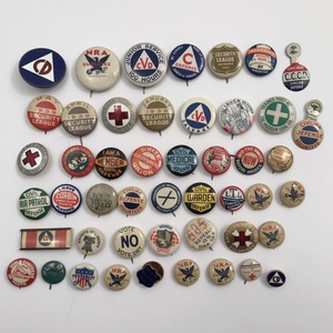 Group of 70 Older Civil Defense and Military Buttons