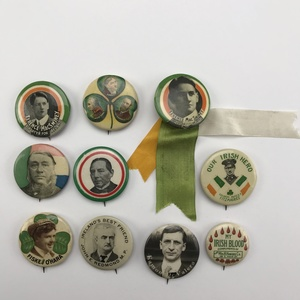Group of 27 Antique Irish Rebellion Buttons Pinbacks