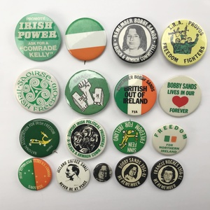 Group of 55 Free Ireland , I.R.A. , Bobby Sands Buttons