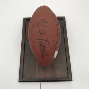 Y.A. Tittle San Francisco 49ers Signed Football COA
