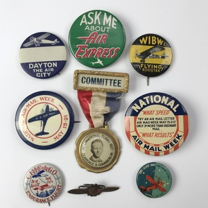 Group of 24 Older Aviation and Airshow Buttons