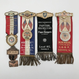 Group of 16 Antique Fraternal Ribbons Medals