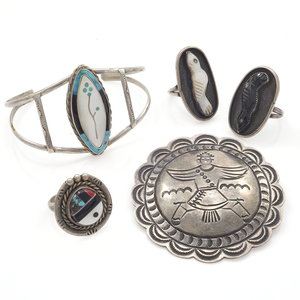 Collection of Zuni Multi-Stone, Silver Jewelry