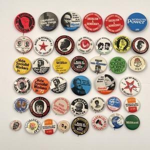 Large Modern Era Socialist Party Campaign Button Lot