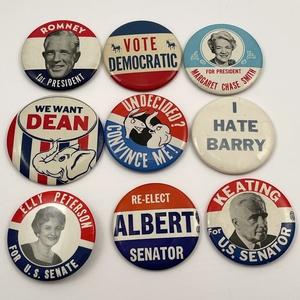 45 Miscellaneous Vintage 1960s Campaign Buttons