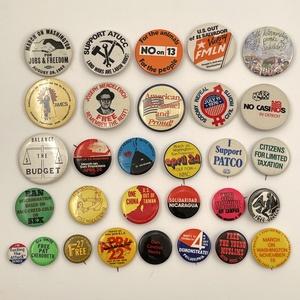 Vintage Protest Activism Marches Buttons