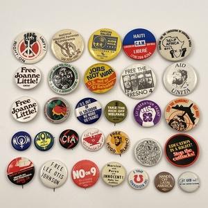 Vintage Activism Counter Culture Buttons Pinbacks