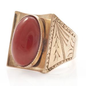 Coral, 10k Rose Gold Ring