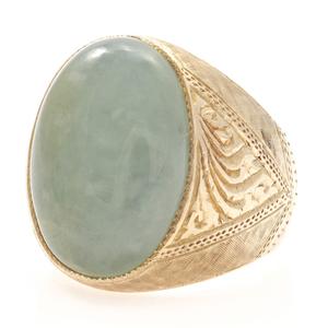 Gent's Jade, 18k Yellow Gold Ring