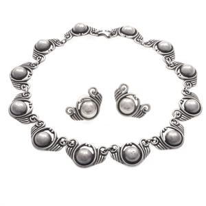 Los Castillo Mexican Sterling Silver Jewelry Suite