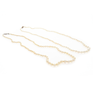 Two Graduated Cultured Pearl Necklaces